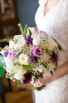 Shades of Purple + Green Saint Clements Castle Wedding Photographer: Candace Jeffery Photography