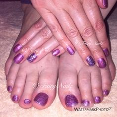 FN Shellac with glitter additives & foil
