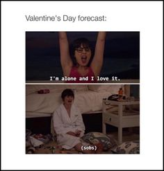 New Girl Quotes, Valentine's Day Quotes, Movie Quotes, Teen Quotes, Book Quotes, Jessica Day, Funny Valentines Day Quotes, Im Lonely, Funny Memes