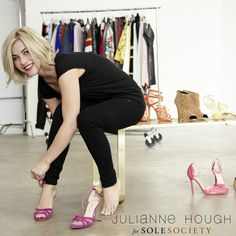 7cc35858343 Announcing Julianne Hough for Sole Society if I ever cut my hair short it ll