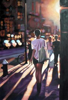 (Pinned by AshOkaConcept ॐ) - Thomas Saliot's painting ; Street Light, by Thomas Saliot Thomas Saliot, Jolie Photo, Looks Cool, Figure Painting, Love Art, Painting Inspiration, Daily Inspiration, Amazing Art, Awesome