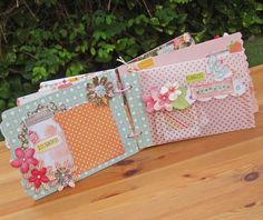 Handmade Mini Album with a girly theme - Two Peas in a Bucket