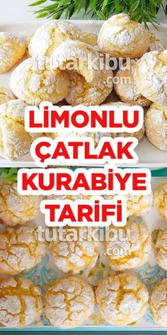 Limonlu Çatlak Kurabiye – Kurabiye – The Most Practical and Easy Recipes Crack Cookies Recipe, Lemon Cookies, Cookie Recipes, Köstliche Desserts, Delicious Desserts, Yummy Food, Cracked Cookies, Italian Lemon Pound Cake, Cabbage And Bacon
