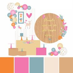 Party In A Box, Birthday Decorations, Kids Rugs, Home Decor, Paint Colors, Color Schemes, Best Color Combinations, Parties, Appliques