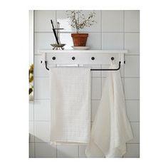 HJÄLMAREN Pyyheteline/hylly - valkoinen - IKEA