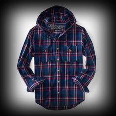 Aeropostale メンズ シャツ エアロポステール Long Sleeve Hooded Skate Woven Shirt シャツ-アバクロ 通販 ショップ-【I.T.SHOP】 #ITShop