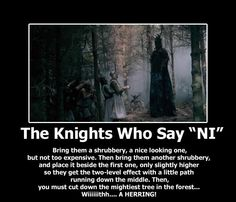 Monty Python and the Holy Grail....pure awesomeness
