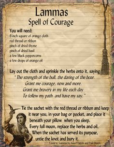 Lammas Courage Spell | Sacred Wicca
