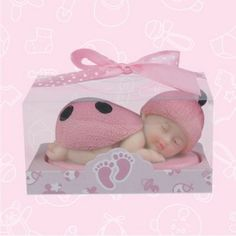 "Baby Shower Ladybug Figurine - You'll hear lots of ""Oohh's"" and ""Aahh's"" when you give your baby shower guests this adorable Baby Shower #LadybugFigurine. It's simply too cute to ignore! Choose blue if you're expecting a boy, pink for girls, and gender-neutral red if you're not sure of your future baby's gender. Expectant mothers often use these colorful, polyresin ladybug gift favors to announce the gender of their baby."