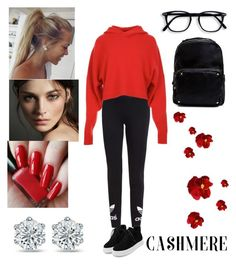 """""""🐱Cashmere🐱"""" by dreamerz-dream-on ❤ liked on Polyvore featuring adidas Originals, TIBI, WithChic, Burberry and Madden Girl"""