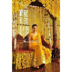 Looking to get a Haldi Ceremony Photoshoot? Must Try Haldi Ceremony quirky & fun ideas to be capture with your loved one. Wedding Ceremony Ideas, Desi Wedding Decor, Haldi Ceremony, Wedding Stage Decorations, Wedding Mandap, Outdoor Ceremony, Dress Wedding, Ceremony Backdrop, Wedding Flowers