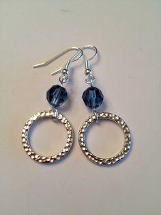 Denim Earrings by SharonKrug on Etsy, $18.00