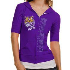 LSU Tigers Ladies Duds Rip Zip Hoodie - Purple