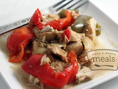 Paleo Slow Cooker Thai Chicken - Whole30 Compliant - Once A Month Meals - Freezer Meals - Freezer Recipes - OAMM - OAMC