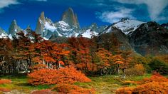 Mount Fitz Roy on the Border of Argentina and Chile