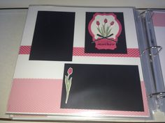 """Stampin' Up!, My Mother stamp set, Mother's Day,  Backyard Basics stamp set, Backyard Basics Framelits Dies, Deco Labels Collection Framelits Dies, Decorative Label Punch, 2013-2015 In Color Designer Series Paper Stack, 2013-2015 In Color Strawberry Slush 8-1/2"""" X 11"""" Cardstock, scrapbook layout, 2 page layout, 12x12, Tammy Carhart"""