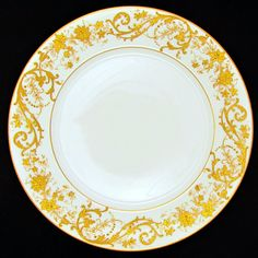 10 French Limoges Porcelain Gold Encrusted Raised Gilt Enamel Dinner Plates