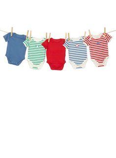 5 Pack Animal Motif Bodysuits - baby boy (0-3)  - Children