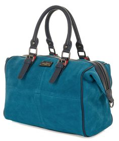 Paul's Boutique Spring / Summer 2015 | Luxury Suede Porter Bowler bag in Teal. www.paulsboutique.com x