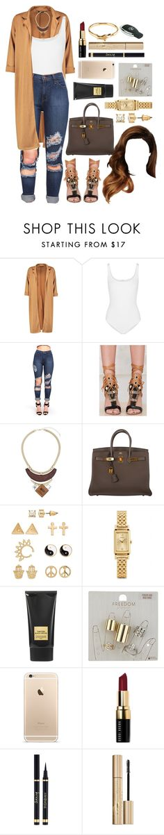 """""""02 November, 2015"""" by jamilah-rochon ❤ liked on Polyvore featuring Wolford, Sam Edelman, Dorothy Perkins, Hermès, Mudd, Coach, Tom Ford, Topshop, Bobbi Brown Cosmetics and Yves Saint Laurent"""