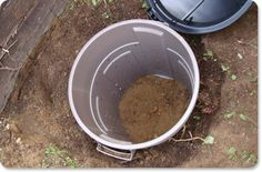 DIY Dog compost for the yard. Although there is conflict on whether this works for environmental protection from diseases, parasites, etc.