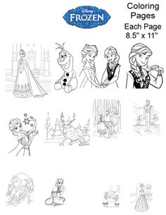 Disney Frozen Coloring Pages Birthday Party Games By TahDahStudio 400