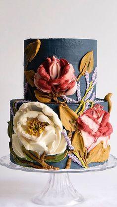 Pretty Cakes, Cute Cakes, Beautiful Cakes, Amazing Cakes, Flores Buttercream, Buttercream Cake, Wedding Cake Designs, Wedding Cakes, Wedding Cake Inspiration