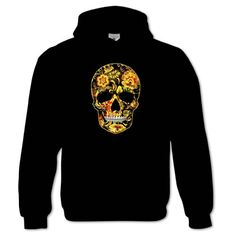 Bang Tidy Clothing Women's Flower Skull 1 Hoodie
