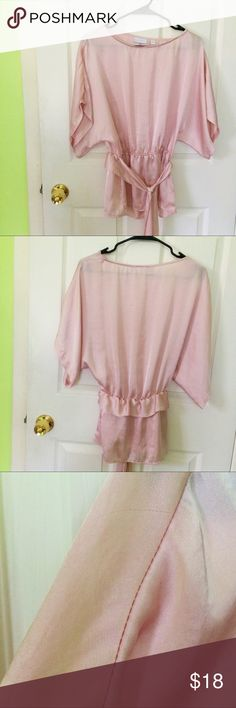Blush pink blouse Flowy blush pink blouse. Small run on shoulder. Great to dress up with flats or heels in the summer. New York & Company Tops Blouses