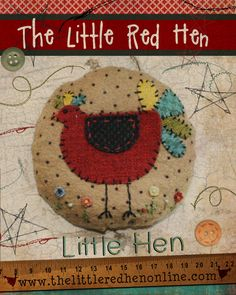 Líl' Hen Pincushion Pattern PDF by TheLittleRedHenIowa on Etsy