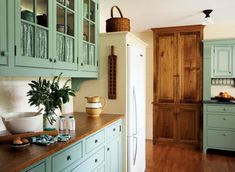A Casual Country Kitchen   Old House Restoration, Products & Decorating