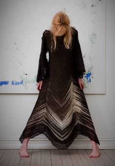 Hélène Magnússon - knitted dress -WOW - I would never get this done, but it is so beautiful!!