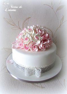 One Tier Cake, Single Tier Cake, Cool Birthday Cakes, Elegant Cakes, Sugar Art, Fondant Cakes, Tiered Cakes, No Bake Desserts, No Bake Cake