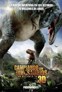 So exited for Walking with Dinosaurs 3D this Christmas! Sorry the poster's in Spanish, I couldn't find this awesome image in another language(English).