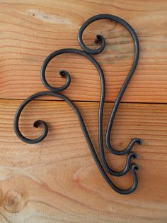 Hand Forged Christmas Mantle Stocking Hanger by TheMarmotDen