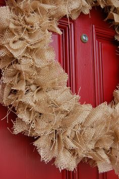 Oh Happy Day: DIY Burlap Wreath - Could used different colors of burlap for different seasons/holidays!