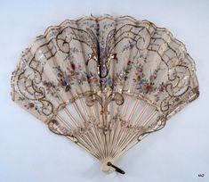 Antiguo adornado victoriana Fan Hand de sdbees1030 en Etsy