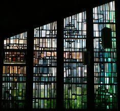 4. Free Composition. Gerður Helgadóttir, c.1965 window in the ship, antique glass / lead / Schwarzlot