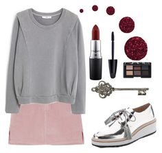 """Ruby"" by gaaras-leaf on Polyvore featuring MANGO, Loeffler Randall, Max Factor, MAC Cosmetics, Topshop and NARS Cosmetics"