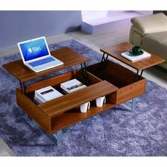 Table Basse TABLE BASSE EXTENSIBLE EN BOIS MUTIFONCTION EASY