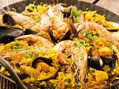 Paella rapide - Recette de cuisine Marmiton : une recette