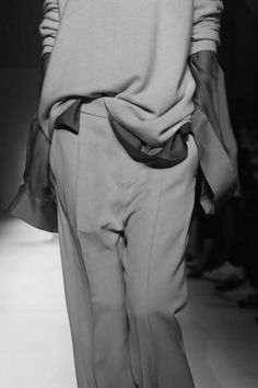 Slouchy Layers - tailored trousers, blouse & sweater; fashion details // Haider Ackermann Spring 2015