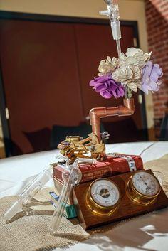 20 Creative Steampunk Wedding Centerpieces | HappyWedd.com