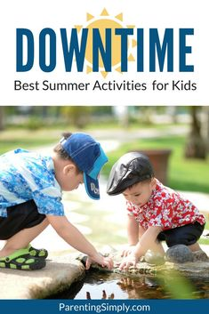 Downtime Activities for Kids - Parenting Simply Co Parenting Classes, Parenting Books, Parenting Advice, Parenting Styles, Foster Parenting, Parenting Quotes, Summer Activities For Kids, Toddler Activities, Toddler Sleep Training