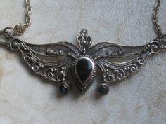 Kette mit Onyx, echtes Silber *Gothic*Jugendstil*