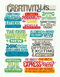 Creativity is... (no author found)
