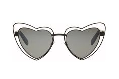 We Heart Saint Laurent's New Lou Lou Cut-Out Sunglasses: Cute and edgy all in one. Head Over Heels, Heart Shapes, Eyewear, Saint Laurent, Porn, Sunglasses, Eyeglasses, General Eyewear, Shades