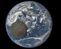 Imagem mostra o 'lado oculto' da Lua iluminado pelo Sol, enquanto ela passa entre o satélite DSCOVR e a Terra  (Foto: NASA/NOAA)