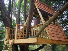 interessantes-design-vom-baumhaus für kinder - Baumhaus bauen – schaffen Sie einen Ort zum Spielen für Ihre Kinder!                                                                                                                                                     Mehr