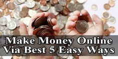 Make Money Online Via Best 5 Easy Ways:  Are You New On #Internet Then You Must Want To Earn Some $$$. Here We Have Some #Tips Through Which You Can #Earn And Make #Money Online Without #Investment Any Peny Via Best 5 And Easy Ways...  #Article: www.exeideas.com/2013/10/without-investment-make-money-online.html